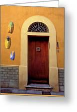 Cicada Door Arles France Greeting Card