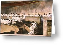 Cicero In Senate Greeting Card