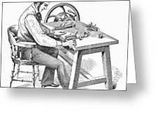 Cigar-making Machine, 1859 Greeting Card