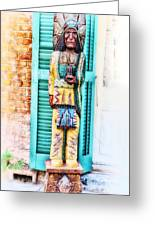 Cigar Store Indian - New Orleans Greeting Card