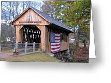 Cilleyville Covered Bridge Greeting Card