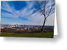 Cincinnati From Kentucky Greeting Card