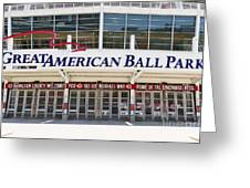 Cincinnati Great American Ball Park Entrance Sign Greeting Card