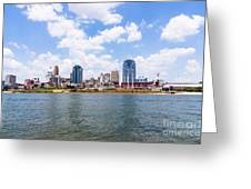 Cincinnati Skyline And Downtown City Buildings Greeting Card