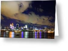 Cincinnati Skyscrapers Touch Clouds Greeting Card