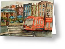 Cincinnati Streetcar Greeting Card