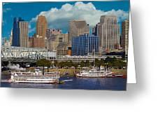 Cincinnati Tall Stacks  Greeting Card