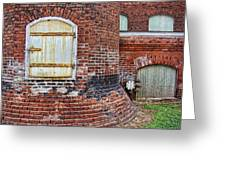 Circa 1901 Lowe Mill Art Studios Architecture Details Greeting Card