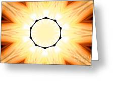 Circle Of Light Greeting Card