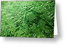 Circuit Board, Computer Artwork Greeting Card by Pasieka