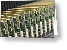 Circuit Board Production Greeting Card
