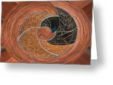 Circular Koin Greeting Card by Jean Noren