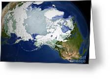 Circum-arctic Permafrost Greeting Card
