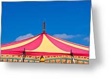 Circus Tent Top  Greeting Card