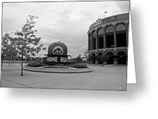Citi Field In Black And White Greeting Card