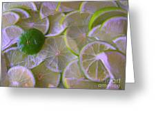 Citrons Verts - Green Lemon - Ile De La Reunion Greeting Card