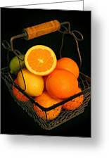 Citrus Fruit Basket Greeting Card