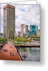 City - Baltimore Md - Harbor Place - Baltimore World Trade Center  Greeting Card