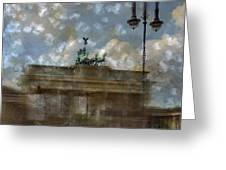 City-art Berlin Brandenburger Tor II Greeting Card