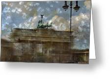City-art Berlin Brandenburger Tor II Greeting Card by Melanie Viola