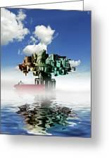 City At Sea, Artwork Greeting Card by Victor Habbick Visions