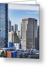 City Buildings Greeting Card by Dave & Les Jacobs