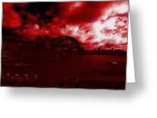 City Burning Greeting Card