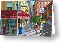 City Corner Greeting Card