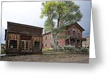 City Drug Store And Hotel Meade - Bannack Montana Ghost Town Greeting Card