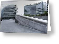 City Hall And The Shard Hms Belfast Thames London Greeting Card