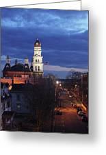 City Hall At Dusk Greeting Card by Matthew Green