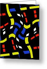 City Lights Abstract Greeting Card
