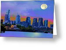 City Nights Greeting Card