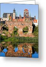 City Of Gdansk In Poland Greeting Card