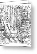 City Scape Greeting Card by Elizabeth Carrozza