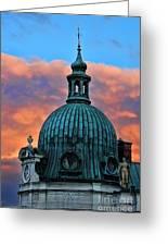 City Sunset Greeting Card