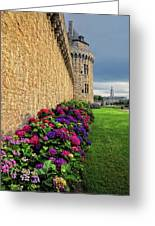 City Wall Vannes France Greeting Card