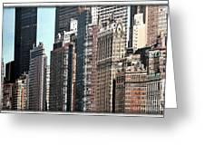Cityscape Cartoon Greeting Card