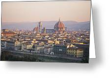 Cityscape, Florence, Italy Greeting Card