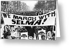 Civil Rights March, 1965 Greeting Card by Granger