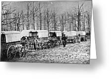 Civil War: Ambulances, C1864 Greeting Card