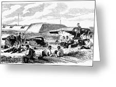 Civil War Battery Scene Greeting Card
