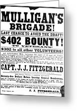 Civil War: Broadside, 1863 Greeting Card