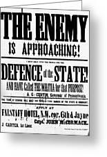 Civil War: Lees Campaign Greeting Card