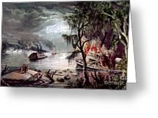 Civil War: Naval Battle Greeting Card