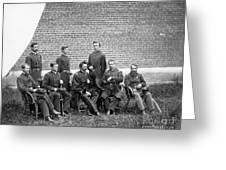 Civil War Officers Greeting Card