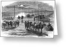 Civil War: Potomac Bridge Greeting Card