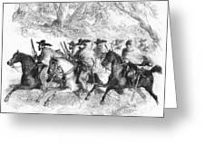 Civil War: Texas Rangers Greeting Card
