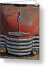 Classic 50s Chevy Greeting Card