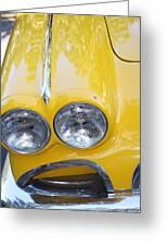 Classic Antique Chevy Corvette - Detail Greeting Card